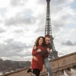 verliebtes paar paris eiffelturm 150x150 Fotoshooting zum Osterwochenende in Paris