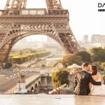 hochzeitspaar vor dem eiffelturm paris 150x150 Frisch verheiratet gehts zum Hochzeits Fotoshooting nach Paris