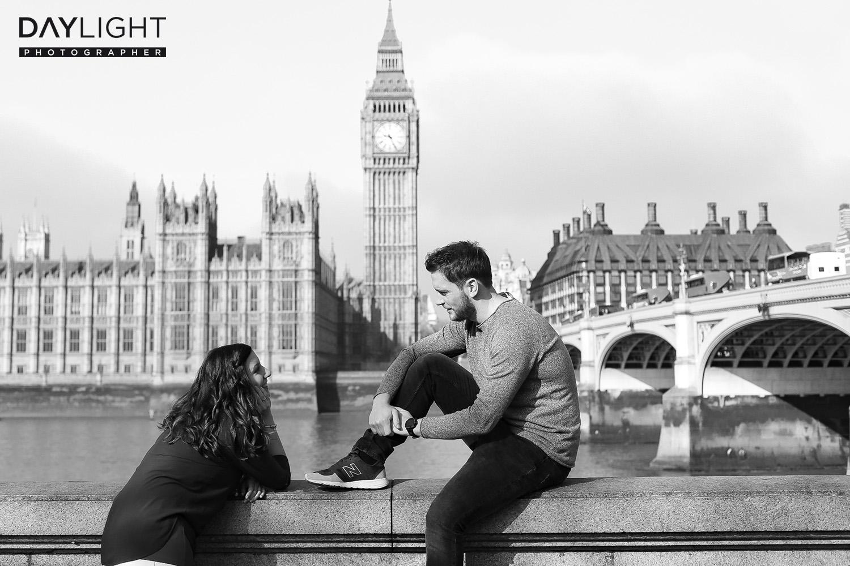 paar shooting big ben london Fotografen in London bieten professionelles Fotoshooting